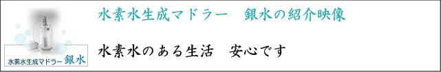 水素水生成マドラー 銀水 紹介
