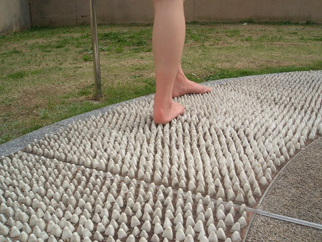 女性 足 ウォークマット